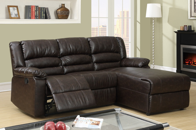 small sectional sofa with recliner photo - 3
