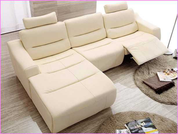 small sectional sofa with recliner photo - 5