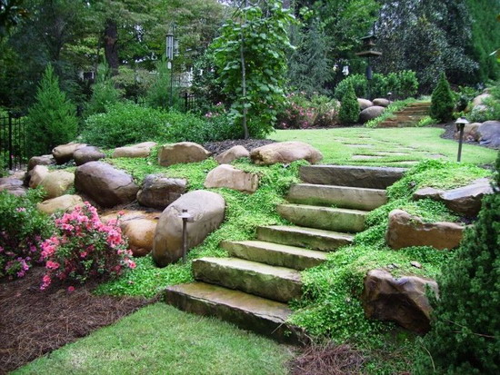 small sloped garden design ideas photo - 4
