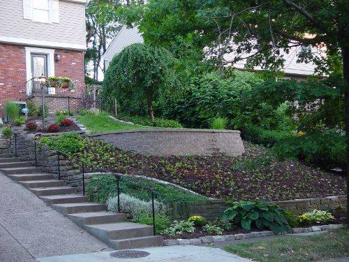 small sloped garden design ideas photo - 5