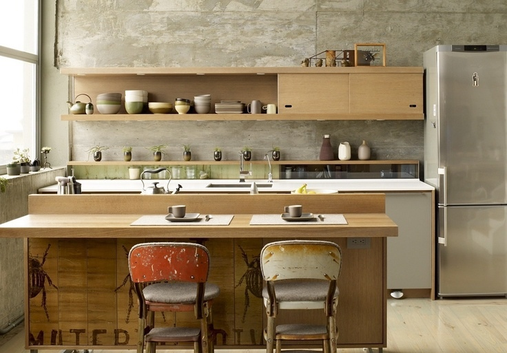 small zen kitchen design photo - 1