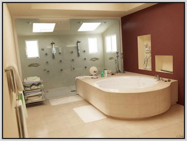 spa bathroom on a budget photo - 3