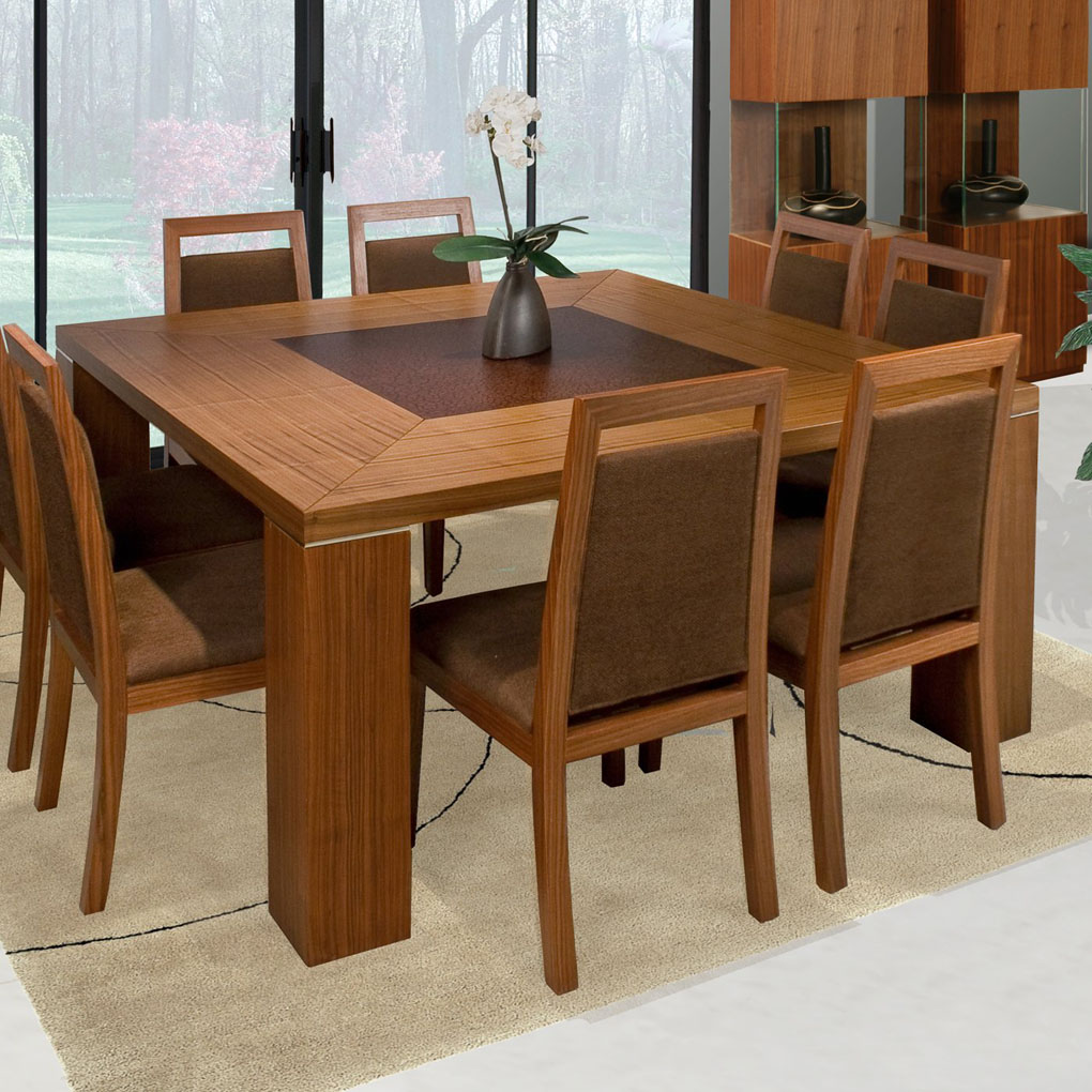 Square dining table for 2 home design for Interior design dining table