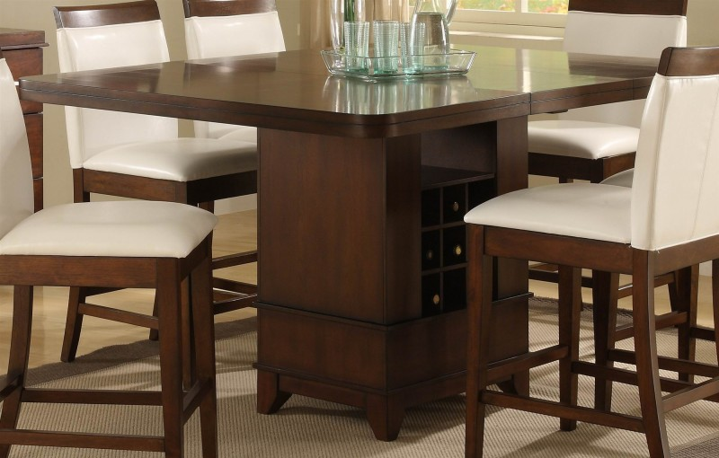 square dining table counter height photo - 5
