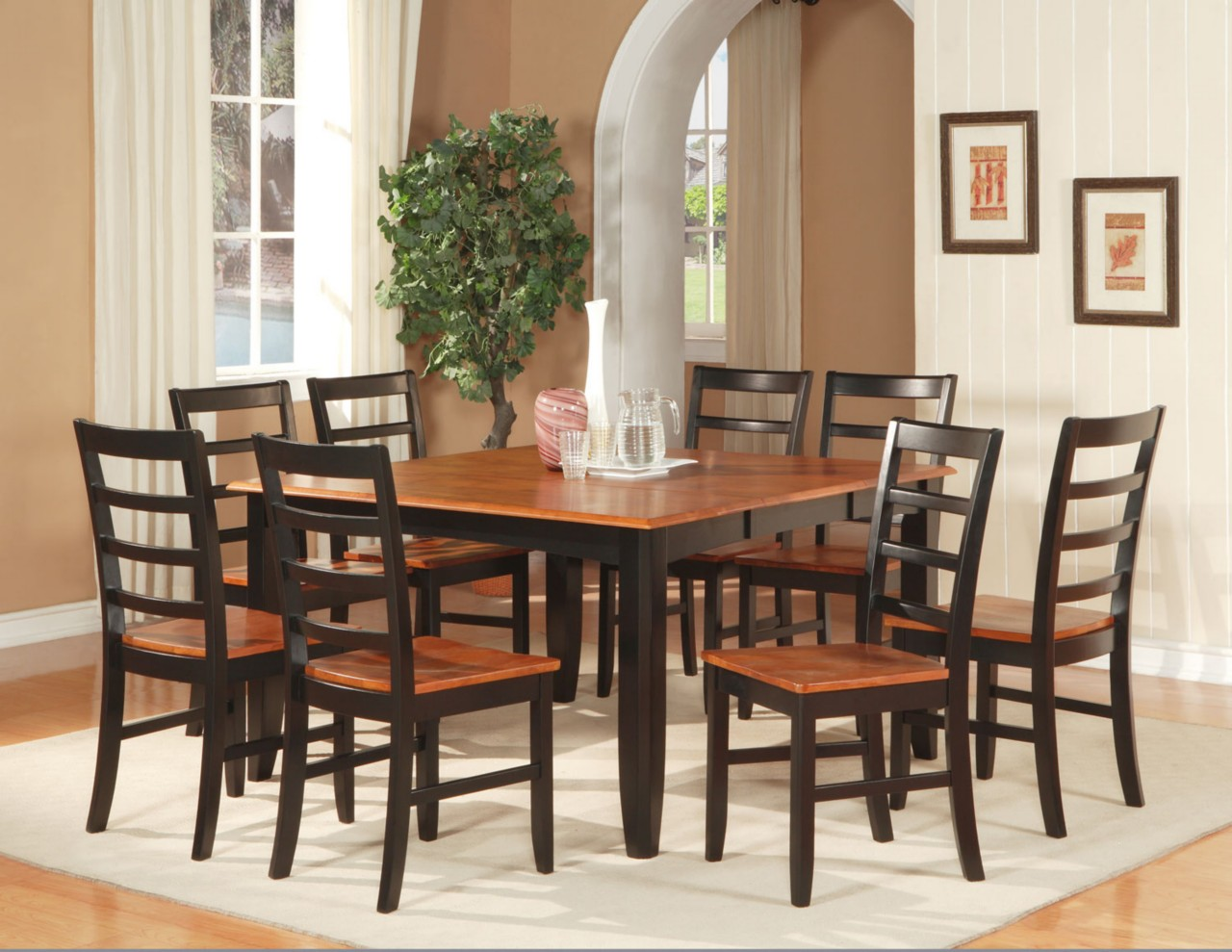 square dining table for 6 photo - 3