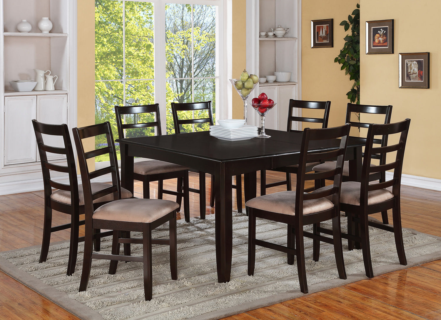 square dining table for 6 photo - 6