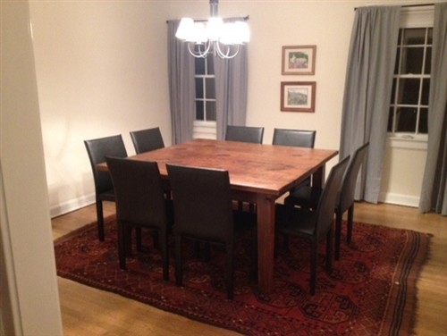 square dining table seats 8 photo - 1