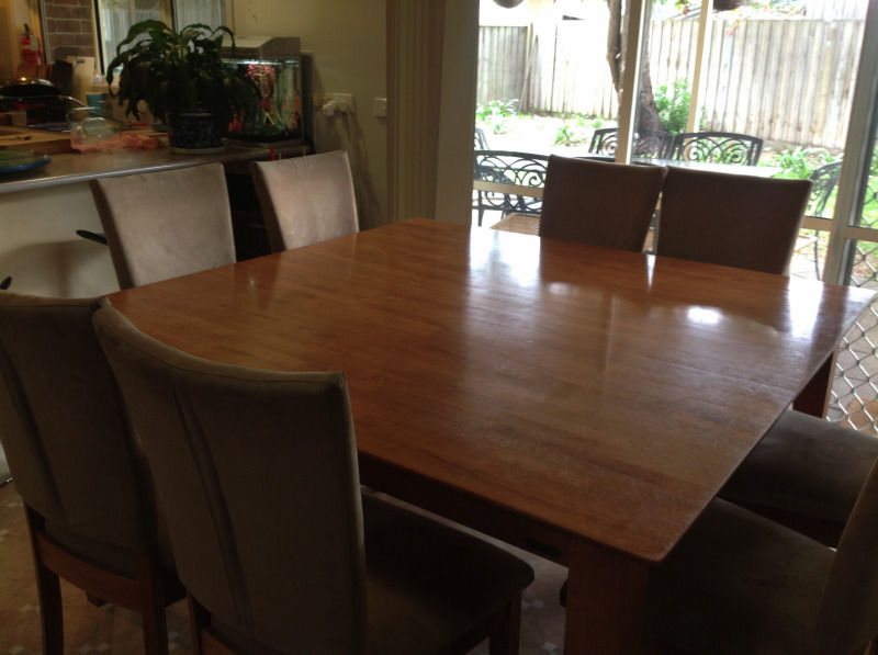 square dining table seats 8 photo - 2