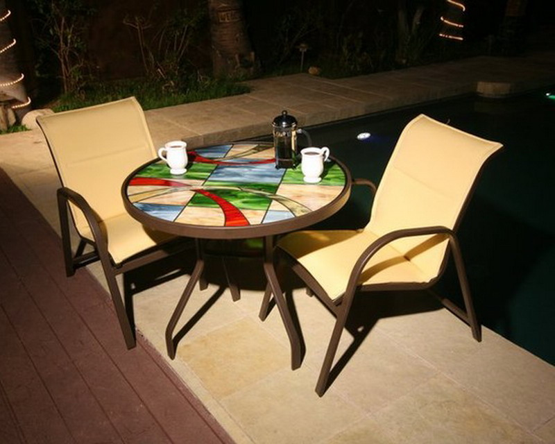stained glass furniture design photo - 3