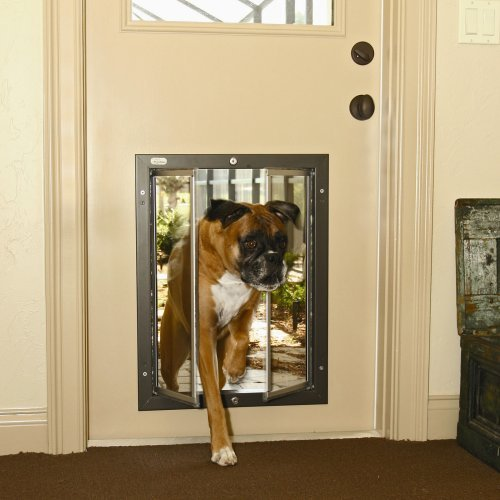 storm door with dog door photo - 1