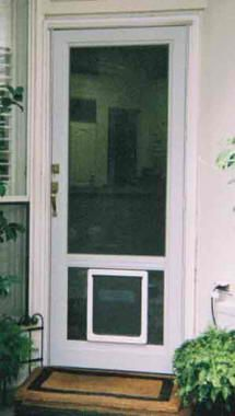 storm door with dog door photo - 5