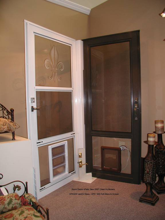 storm door with dog door photo - 8