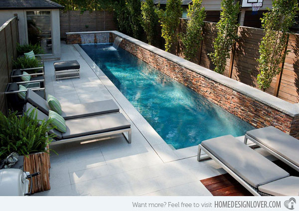 swimming pool designs small yards photo - 1