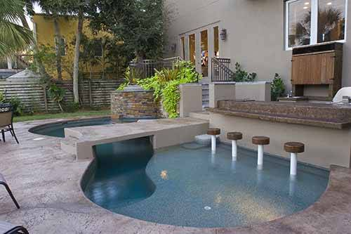swimming pool designs with bar photo - 1