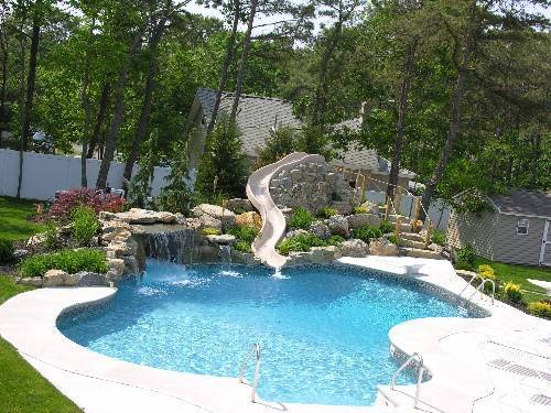 swimming pool designs with slides photo - 1