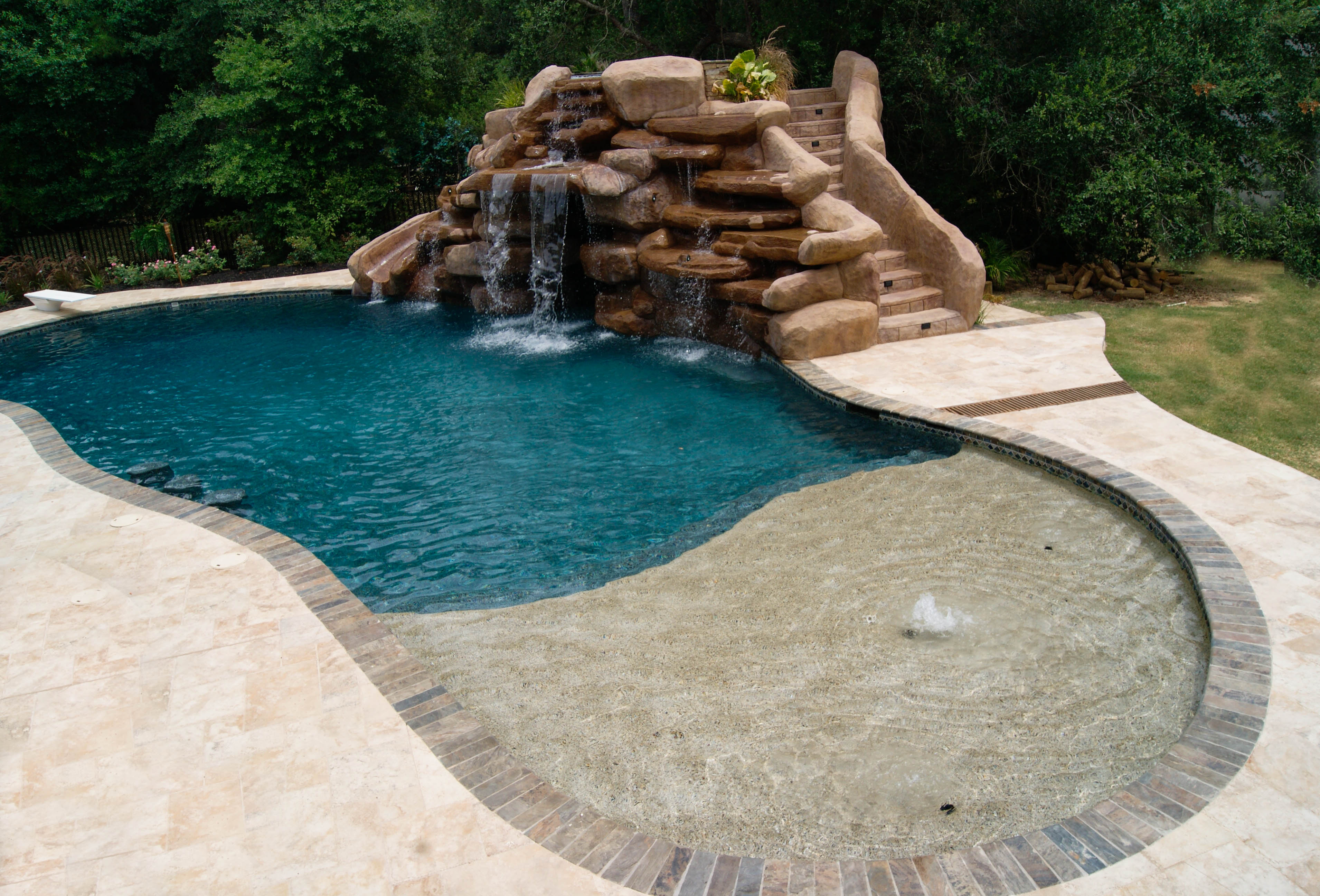 swimming pool designs with slides photo - 2