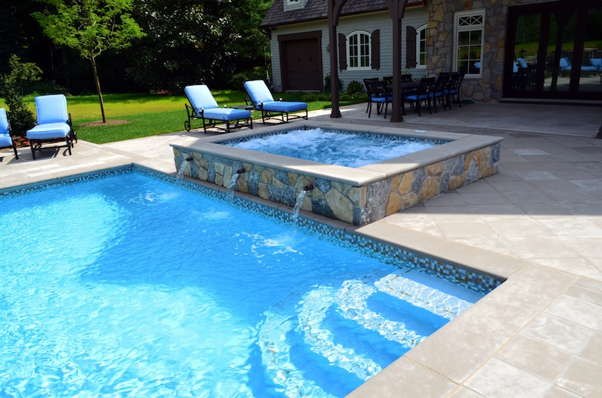 Swimming pool designs with spa | Interior & Exterior Doors