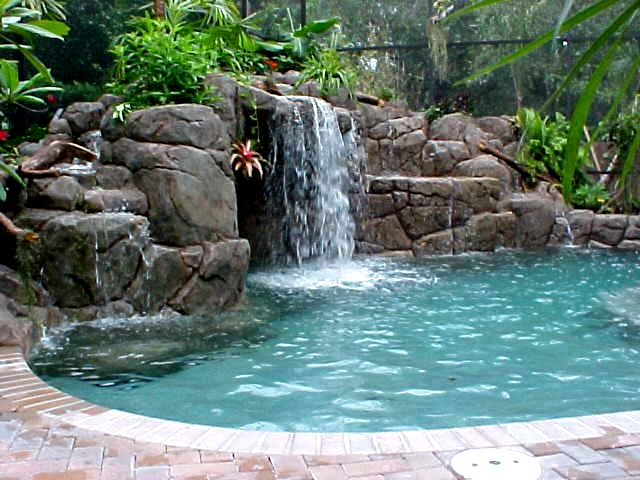 swimming pool designs with waterfalls photo - 2
