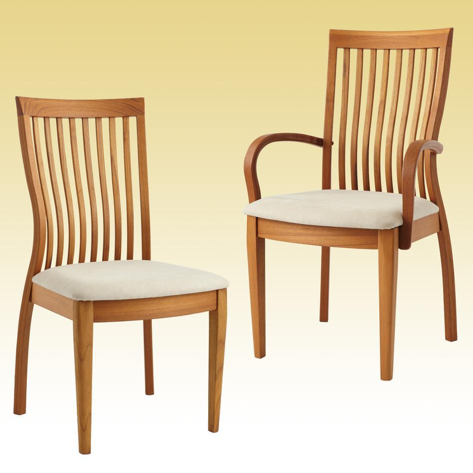 teak chairs dining room photo - 2