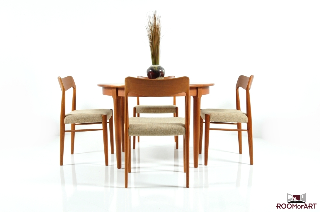 teak chairs dining room photo - 3