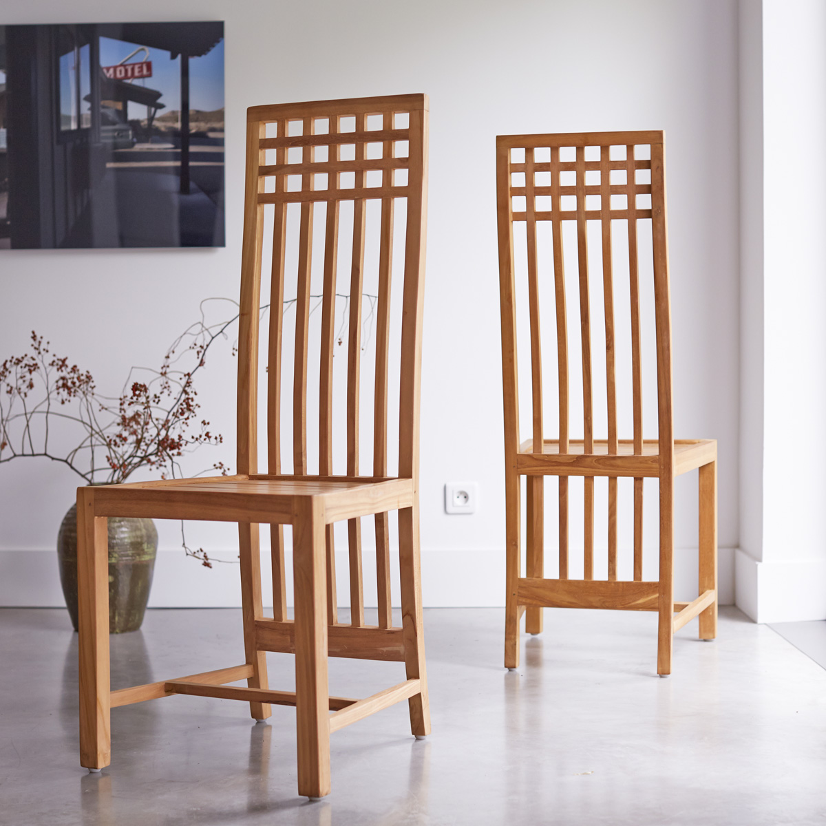 teak chairs dining room photo - 4