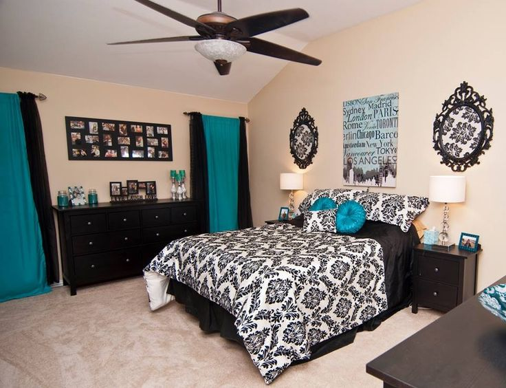 Tiffany Blue And Black And White Bedrooms Photo   3 Part 49