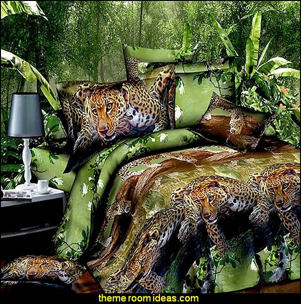 Tiger bedroom decor interior exterior doors for Jungle living room ideas