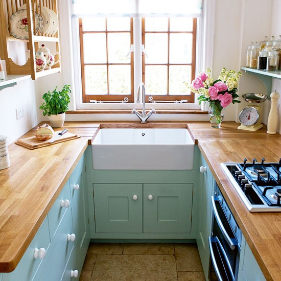 tiny u shaped kitchen photo - 5