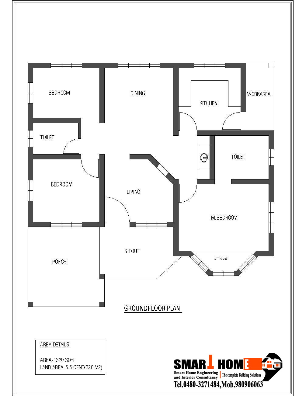 traditional 3 bedroom house plans photo - 4