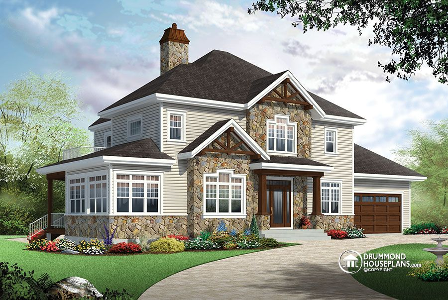 traditional 4 bedroom house plans photo - 1