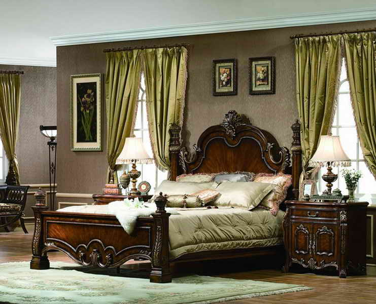 traditional asian bedroom furniture photo - 3