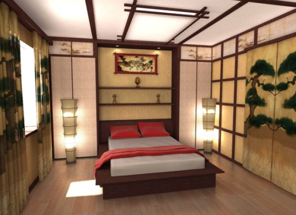 traditional asian bedroom furniture photo - 5