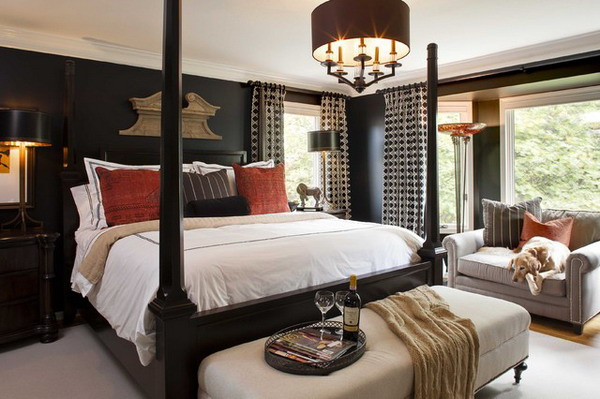 traditional black bedroom furniture photo - 3