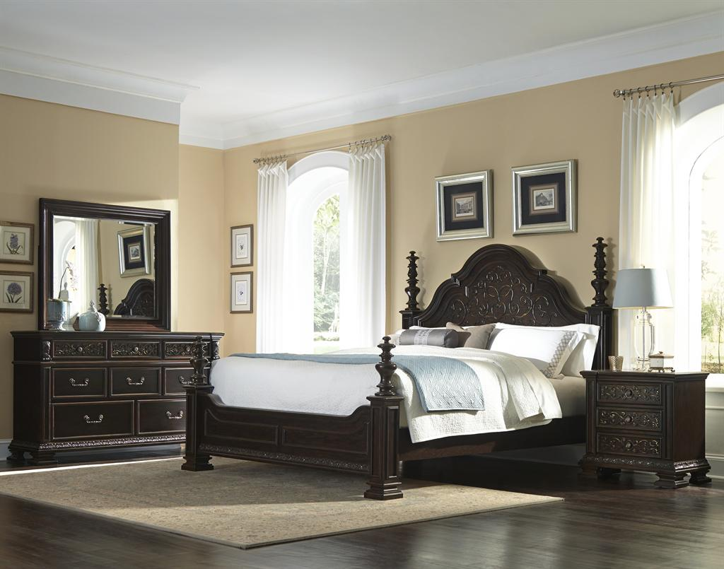 traditional black bedroom set photo - 1