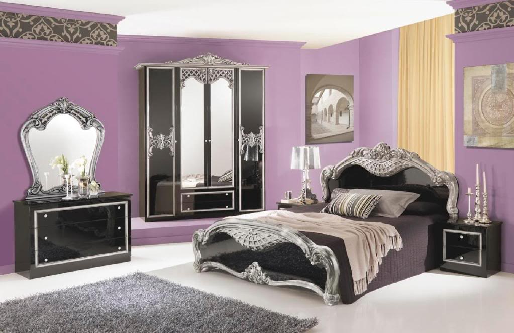 traditional black bedroom set photo - 3