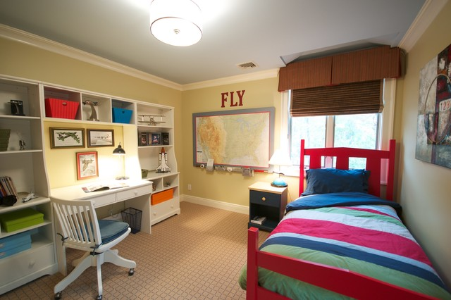 traditional boys bedroom interiors photo - 2