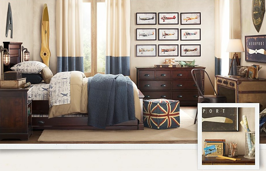 traditional boys bedroom interiors photo - 6
