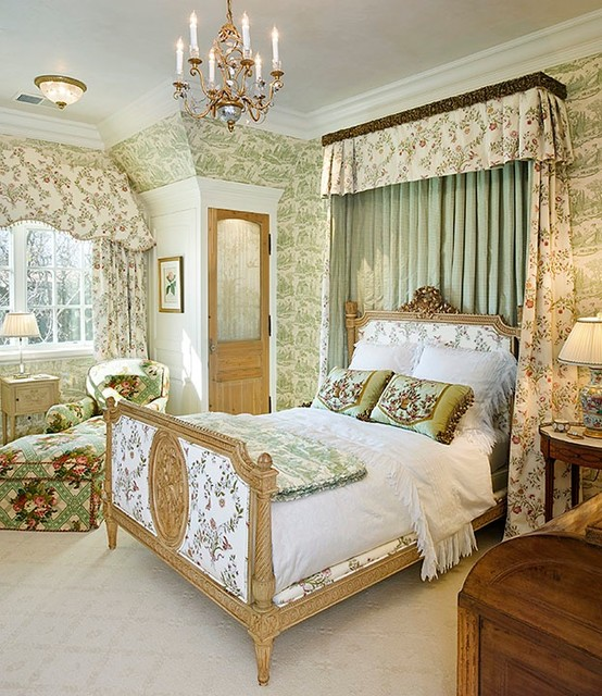 traditional english bedroom design photo - 2