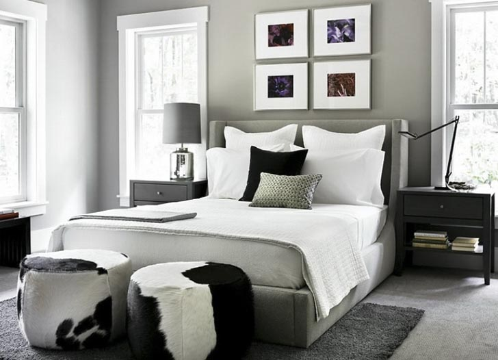 traditional modern bedroom design photo - 3