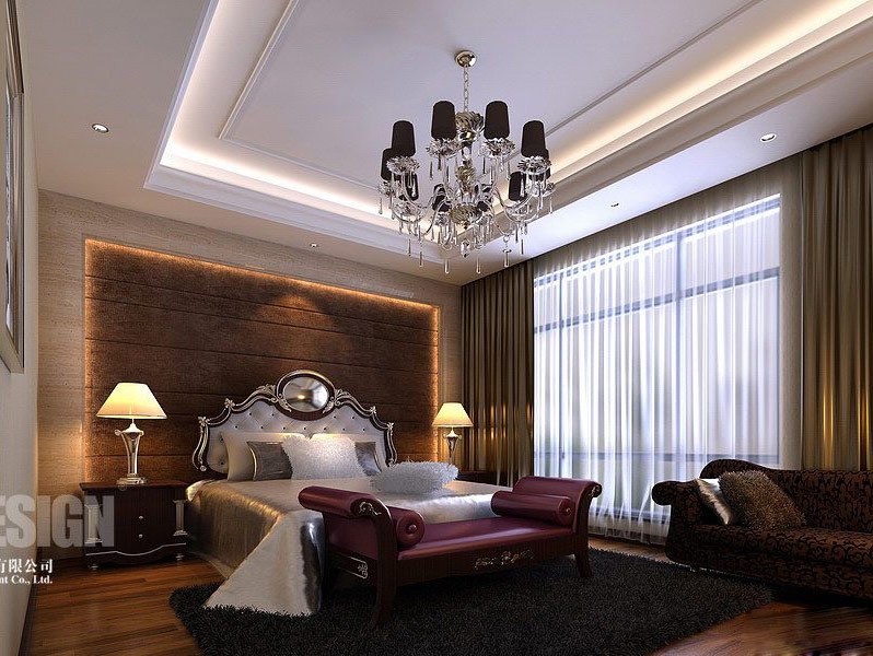 traditional modern bedroom design photo - 6