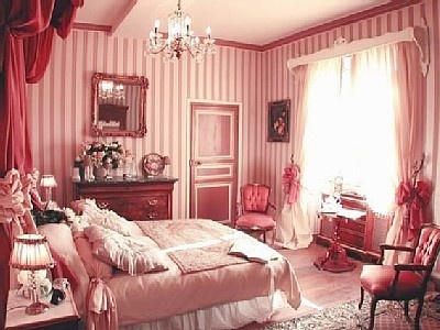 traditional pink bedroom photo - 2