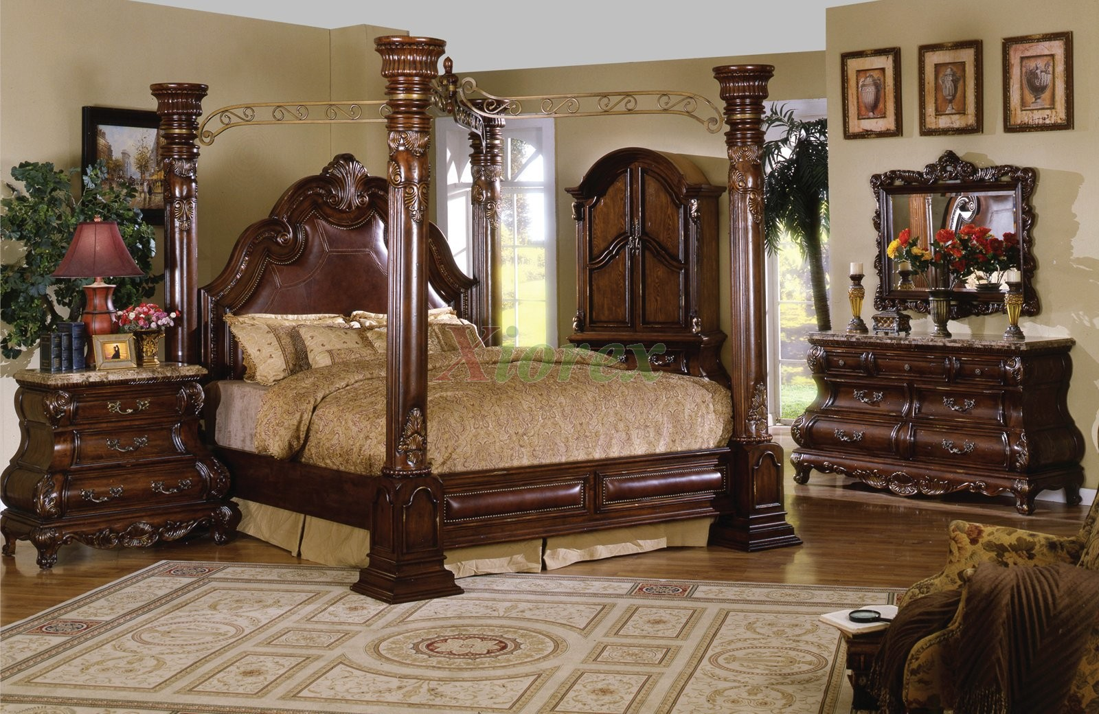 traditional poster bedroom sets photo - 3