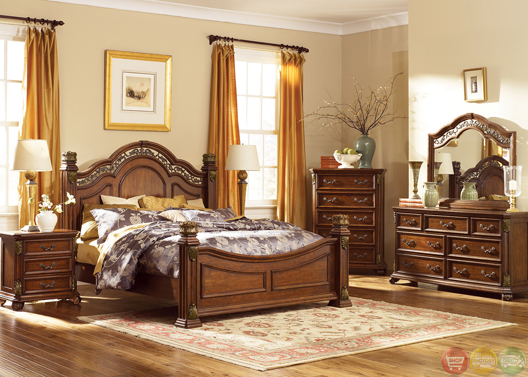 traditional poster bedroom sets photo - 4