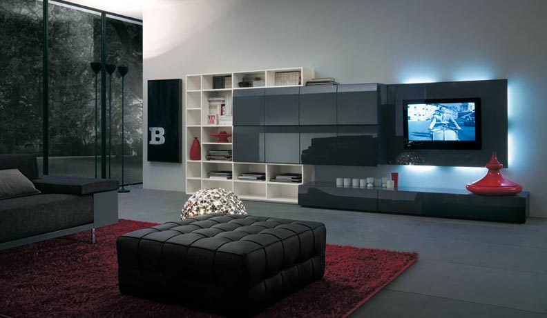tv unit design ideas india photo - 1