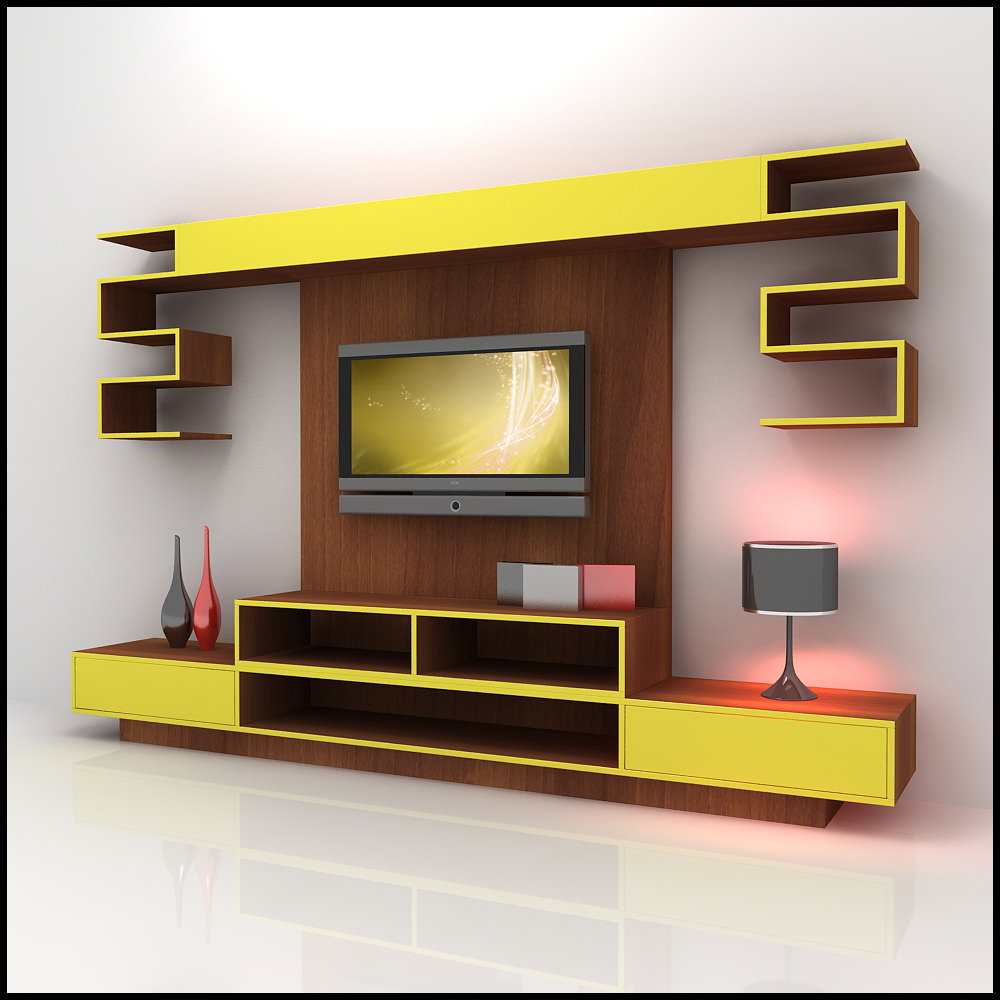 tv unit design ideas living room photo - 6