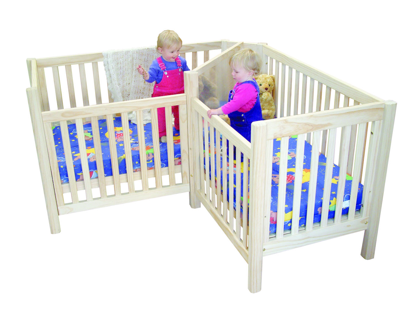 twin baby crib divider photo - 3