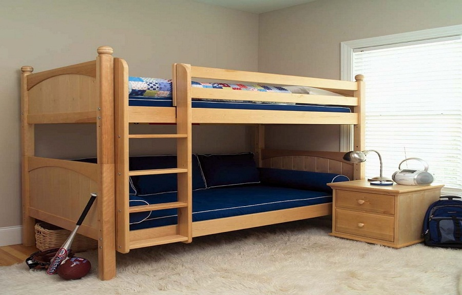 twin bunk beds for kids photo - 2