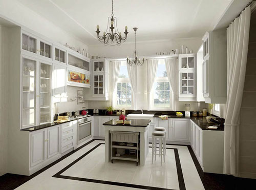 u shaped kitchen designs photo - 3