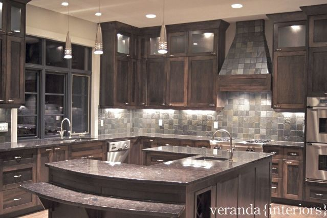 u shaped kitchen island photo - 1