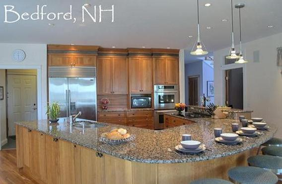 u shaped kitchen island photo - 2